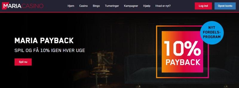 Vi_introducerer_nemlig_payback_på_maria_casino_spil_i_løbet_af_ugen_og_når_det_bliver_mandag_får_du_10%_af_de_tabte_penge_igen_som_kontanter