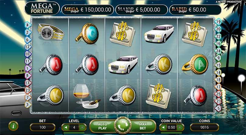 Mega Fortune Jackpot spillemaskinet fra NeEtEnt